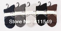 (L&C)cotton winter warm man socks Lace, dot  men sock , wool sock (10pcs=5pairs) /lot, mix color  socks  fit 39-44 size13-105