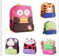 Retail-2013 Brand New Kids Children's Backpack Schoolbag Cute Animal Cartoon Character Canvas Kids School Bag Mochila