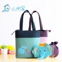 FREE SHIPPING Set small fabric parent-child bag mother bag child shoulder bag messenger bag two set