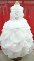 Retail 2013 new sleeveless Chiffon Dress Girls Tutu Layered Princess Party Kids Formal Dress LK2516