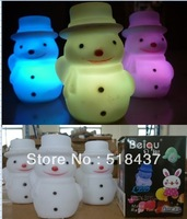 LED snowman lights lamp Colorful led light  snowman led night light  toys gift Christmas child gifts free shipping