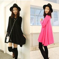 Free shipping women's dresses new fashion 2013 autumn and winter o-neck long-sleeve dress elegant full dress women clothing