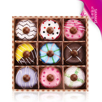 9 boxed donuts Moisturizing Lip Balm RTHK mixed batch of European and American fashion models plaid Distribution Source