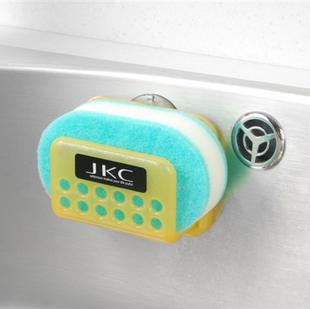2014 Top Fashion Kitchen Storage R8400/2pcs Kitchen Sink Water Suction Cup Shelf Sponge Holder Storage Rack Dishclout Wash Cloth(China (Mainland))
