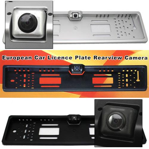 EU European Car License Plate Frame Rear View Rearview Camera 170 Degree IP68 420TVL EU Car License Plate Frame Size(China (Mainland))