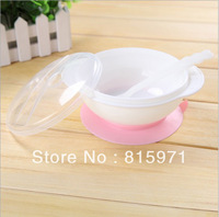 2pc/lot PP material baby fixed sucker dinnerware small children feeding dishes baby bowl 8039