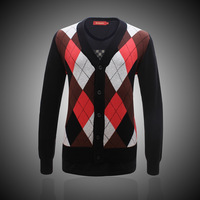 Men's clothing new arrival casual slim 100% basic cotton outerwear cardigan sweater 9362 black