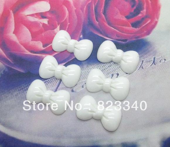 50Pcs White Resin Bow Tie Flatback Cabochon Scrapbook 23x13mm(China (Mainland))