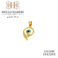 2013 New Fashion Drop Blue Evil Eye Pendant High Quality 18K Real Gold Rhinestone Wholesale 1643284 freeshipping