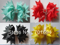 Wholesale - -girls hair bow hairbows hairband grosgrain ribbon hairbows clips new style 100pcs/lot