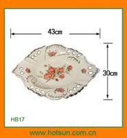 Elegant design modern porcelain fruit dish HB17