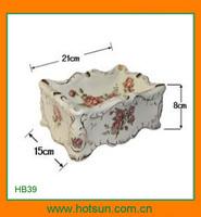 Elegant design porcelain modern napkin box HB39