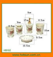 Elegant design porcelain bathroom facility for bathroom sets HB102