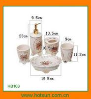 Elegant design porcelain bathroom facility for bathroom sets HB103