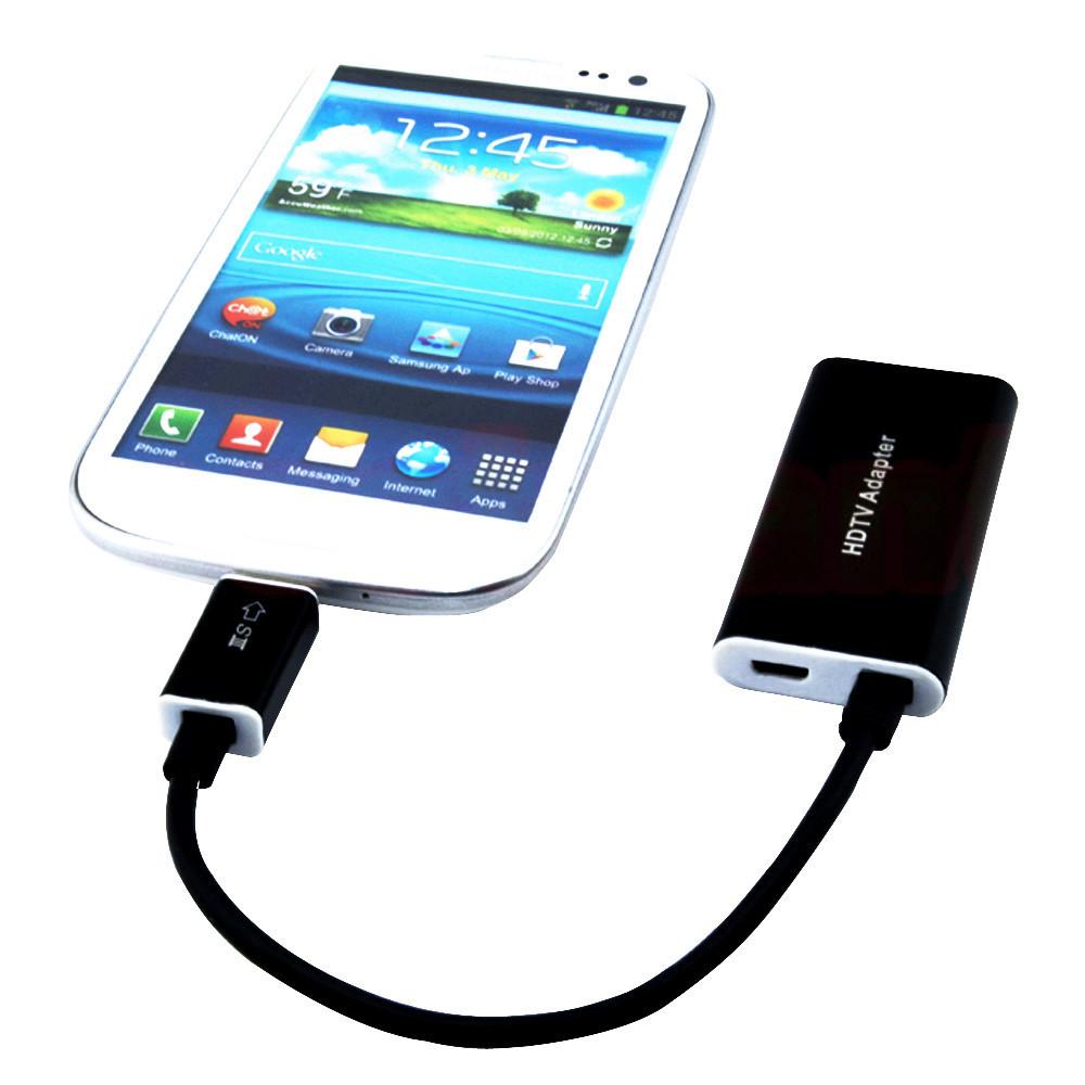 Aluminum Micro USB MHL to HDMI TV AV Cable Adapter For Galaxy S4 i9500 New(China (Mainland))