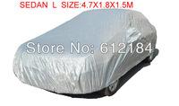Universal Full Car Cover Waterproof Sun UV Snow Dust Rain Resistant Protection Sedan L size 4.7X1.8X1.5M
