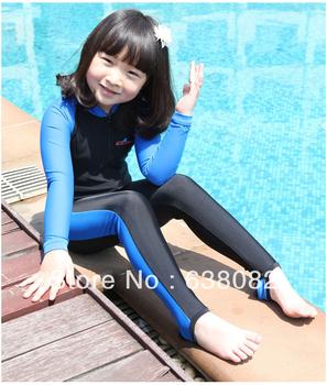 2013 FREE SHIPPING Kid's Rash Guard child one piece swimwear surfing girls and boys wetsuit