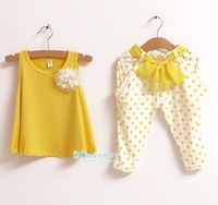 2013 New! Wholesale! girl's clothes,children's clothes,girls suit,cute girl summer short-sleeved sets,baby sets,baby clothing