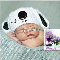 2013 Newborn Baby Crochet Wool Knit Hats Clothes Suit Infant Panda Animal Design Photo Prop Outfits Set White 18900