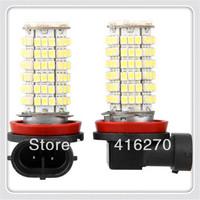 2pcs H11 120 SMD LED Car Bright White Fog Light Lamp Bulb 12V free shipping