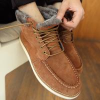 2013 Men's autumn and winter high snow boots Men plus wool plus velvet warm shoes hot-selling genuine leather boots men's shoes
