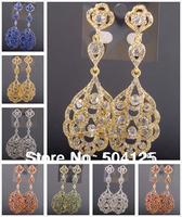 min.mix order is $10-- Crystal drop dangle earrings Luxury statement wedding chandelier teardrop topshop
