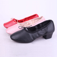 Genuine leather canvas women's belt soft outsole teachers  yoga shoes national dance shoes