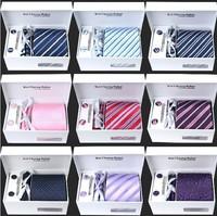 2014 High Quality 100% Silk Neck Tie Set (No Gift Box) Brand Men's Plaid Stripe Necktie Gravata Wholesale And Retail B0072