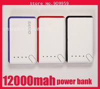 Dual USB 12000mAh Power Bank for Mobile Phone with Multi Connectors