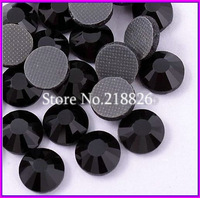 Loose 288PCS Hot Fix Crystal rhinestones!!Flatback DMC SS30(6.4-6.6MM)  Black Jet stones!