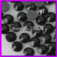 Wholesale SS20 DMC Crystal Rhinestones With Glue,1440PCS Jet Black Flatback Hot Fix Loose Beads!!