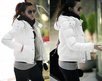 Women's Korean Thicken Jacket Hood Short Cotton Blend Warm Padded Coat  Free shipping