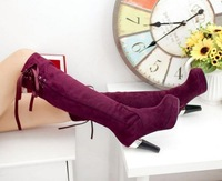 Fashion High Heels Platform Knee Boots 2013 Vintage Style Sexy Shoes for Women's Casual Snow Boots Shoes Big Size 34-43 XB679