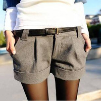 2013 autumn double breasted plus size spring and autumn woolen shorts boot cut jeans autumn and winter legging