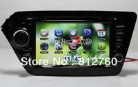 Free shipping Car DVD Player  for KIA K2 (2011-2012) RIO 2012 auto Multimedia with GPS,Bluetooth,Ipod,TV,3G,Russian language