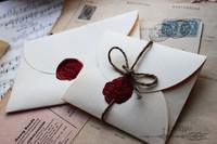 EN005 89*58mm Vintage Cream Paper Gift Window Envelopes for Wedding Invitation/ Card Packing/ Wedding Decoration 20pcs/lot