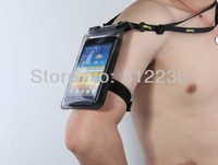 Free Shipping Waterproof pouch case bag for cell phones 4-5.5 inches, 20m water resistant, armband, IPX8