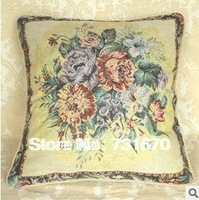 Embriodery Floral cotton yarn home decor  pillow case cushion cover for sofa or bed 50*50cm TH010