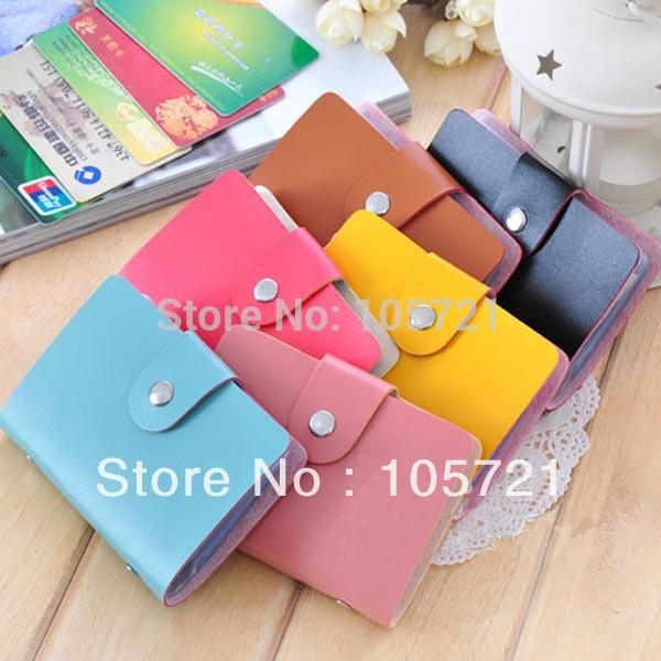 Fashion Cute Womens Wallet Holder Pocket Business ID Card Credit Bag Case Box (CY0715)(China (Mainland))