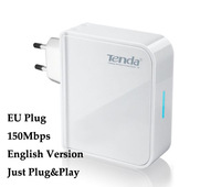 Portable EU plug 150Mbps Tenda A5 Tavel Mini Wireless Router AP Wifi Extender Broadcom chip English Version 1pcs Free Shipping