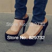 Free shipping 2014 women pumps Princess single shoes high-heeled shoes platform velvet platform 14cm thin heels women shoes