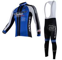 FREE SHIPPING/2013 Fleece Thermal Giant Long Sleeve and Bib Pants Cycling Jerseys /Wear/Clothing/Bicycle/Bike/Riding jerseys