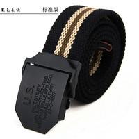 Canvas belt fashionable casual trend of the lengthen alloy outdoor canvas waist belt  belt for man