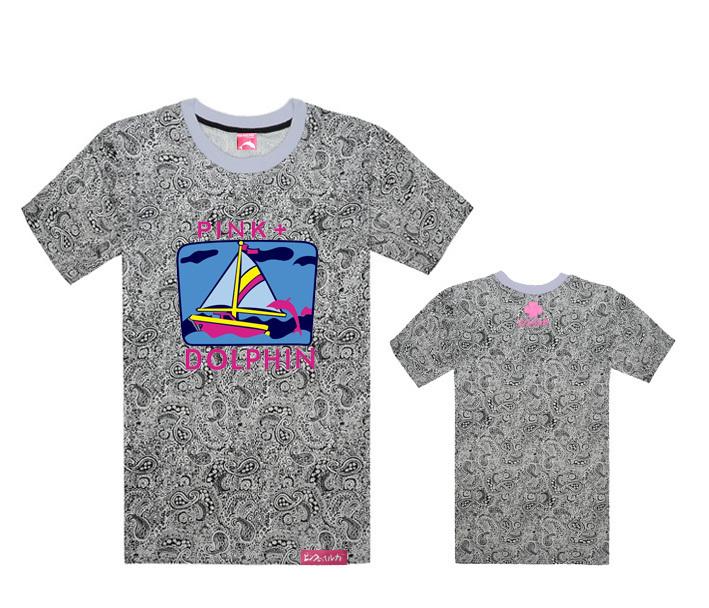 Hip hop Men's Pink dolphin t shirts Brand short sleeveT-Shirt Men's fashion Clothes Floral Leopard Hip hop tees 100% cotton(China (Mainland))