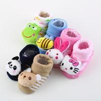 1 pair Cartoon Baby Anti-slip Socks Newborn Unisex Slipper Shoes Boots 0-6 Month Wholesale