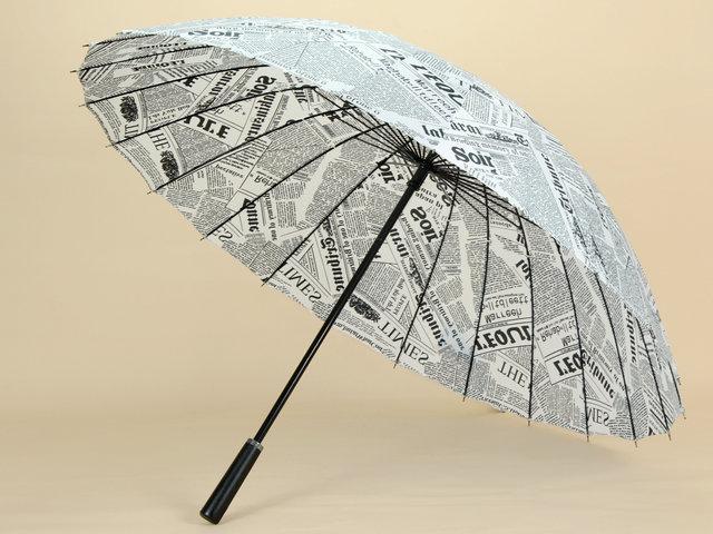 Зонтики из газет