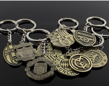 High quality Football Fans National team Keychain Football Club Souvenir Steel buckleInter Manchester City
