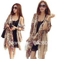 Free shipping ,Hot selling 2013 Autumn and Winter Ladies Ployester Cotton Large Cape Flower Printing Long Scarves .
