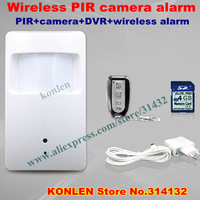 wireless hidden pir camera detector with sd card working standalone or for alarm systems security home