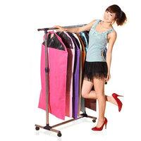 Suit bag 5pcs/lot multi-colors clothes storage bag with transparent window dust proof clothes cover garment bag